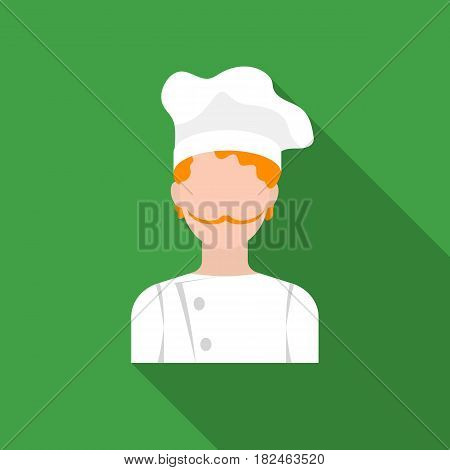 Chef icon in flat style isolated on white background. Pizza and pizzeria symbol vector illustration.