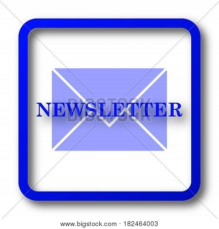 Newsletter icon. Newsletter website button on white background. poster