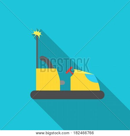 Bumper car icon in flat style isolated on white background. Play garden symbol vector illustration.