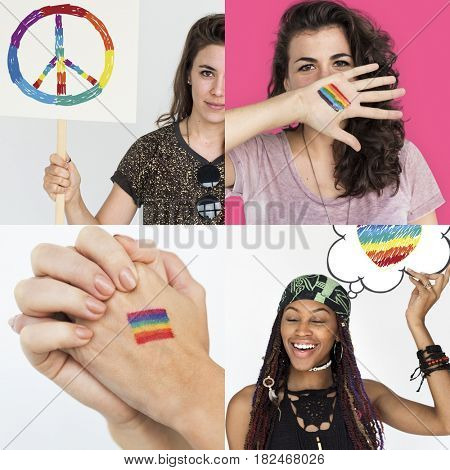 LGBT Lesbian Gay Pride Equality Human Rights Studio Collage