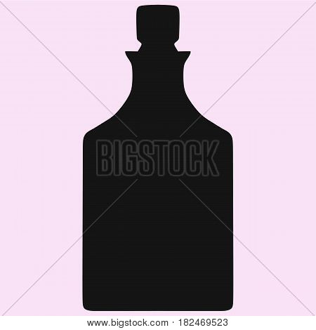 crystal decanter vector silhouette isolated on background