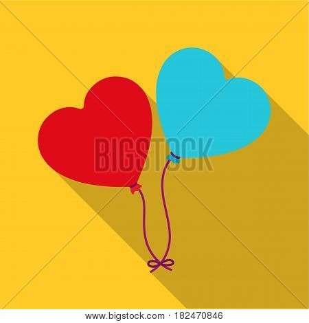 Baloons icon in flat style isolated on white background. Romantic symbol vector illustration.
