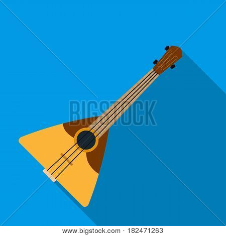 Balalaika icon in flat design isolated on white background. Russian country symbol stock vector illustration.