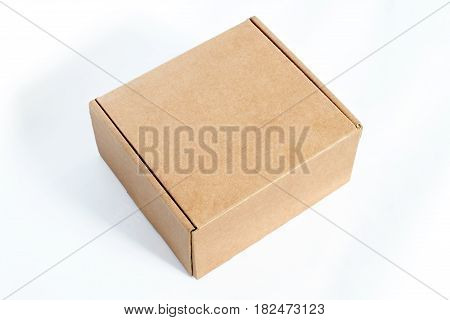 A post box package on isolated background