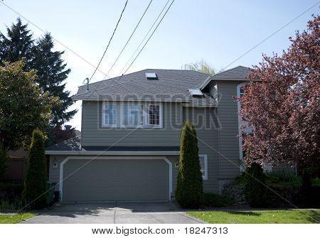 Residentual House On A Street