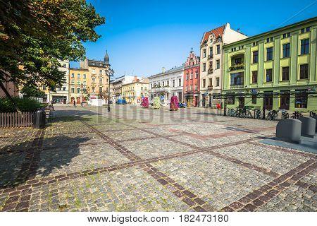 TorunPoland-September 112016:City of Torun historic tenement houses