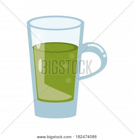 glass cup juicy refreshment vector illustration eps 10