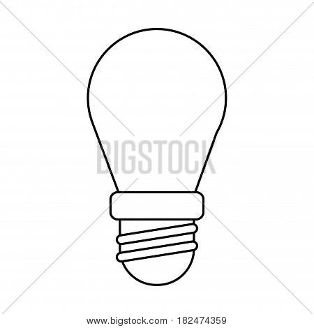 bulb lamp light environment thin line vector illustration eps 10