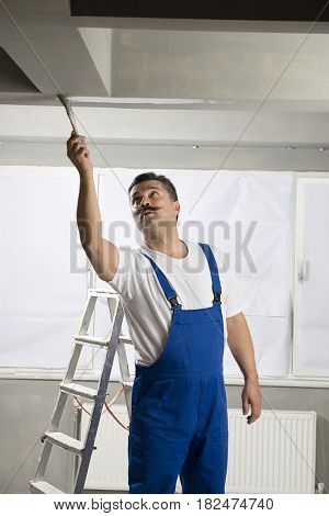 Painter Painting House Interior