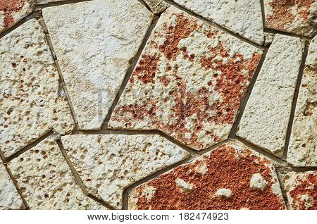 Stone Abstract Background Made from Mosaic Stones