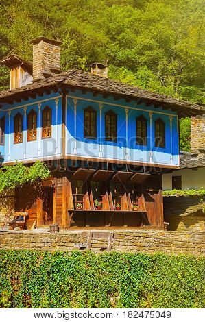 Two-storey House on a Hill Slope in Gabrovo Region Bulgaria.