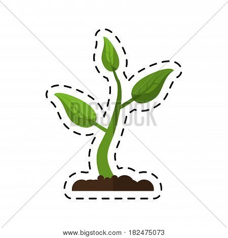 cartoon sprout growing plant eco vector illustration eps 10