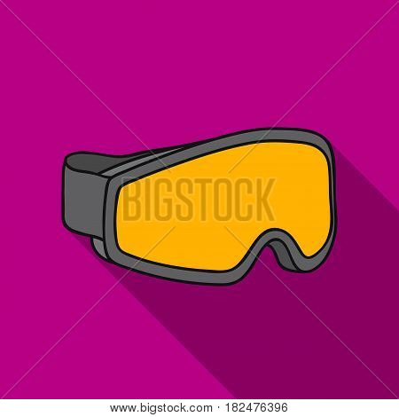 Ski goggles icon in flate style isolated on white background. Ski resort symbol vector illustration.