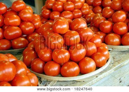Vine Ripe Tomato's At Farmers Market