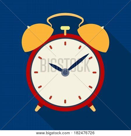 Bedside clock icon in flate design isolated on white background. Sleep and rest symbol stock vector illustration.