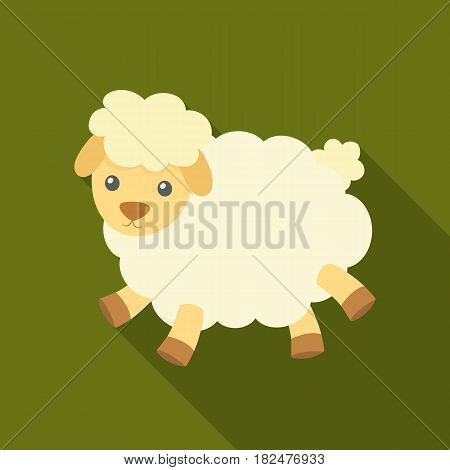 Toy sheep icon in flate design isolated on white background. Sleep and rest symbol stock vector illustration.
