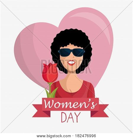 happy womens day poster vector illustration design