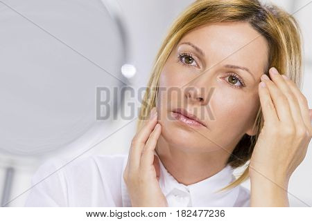 Woman and skin care
