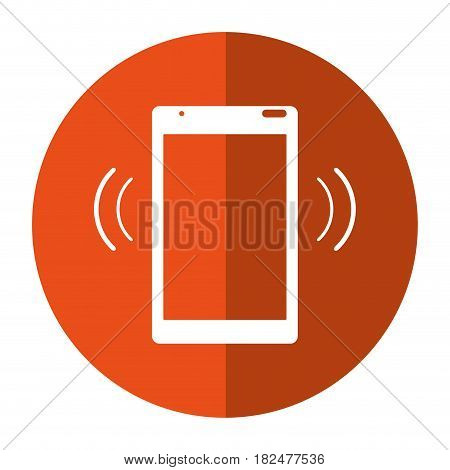 mobile phone device connection transmission shadow vector illustration eps 10
