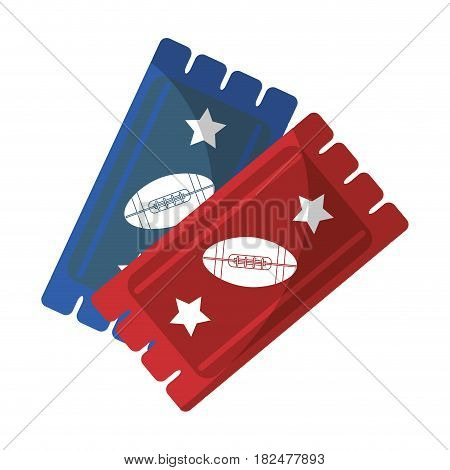 tickets game american football icon vector illustration eps 10