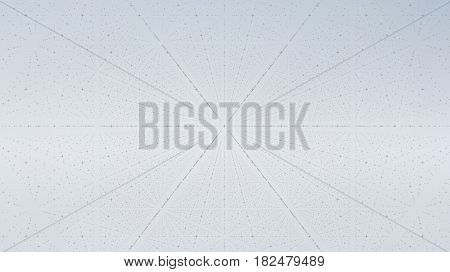 Abstract vector interface background. Matrix of crosses with illusion of depth and perspective. Abstract futuristic space background. Infinite HUD on a light background.