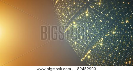 Vector infinite space background. Matrix of glowing stars with illusion of depth and perspective. Abstract futuristic universe on light background with place for text. Nebula structure lattice.