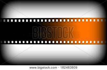 35mm photo film strip on white background