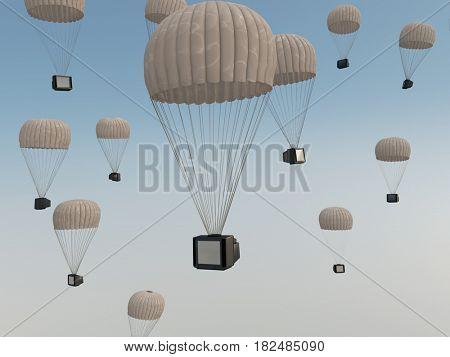 information attack, 3d illustration
