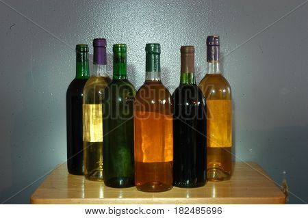 wine bottles color table colors drink row
