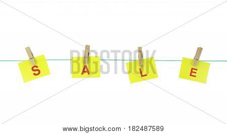 Yellow note papers with the text