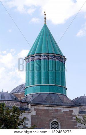 Mevlana museum in Konya- Turkey  close up image