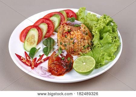 Fried Jasmine Rice With Canned Fish.