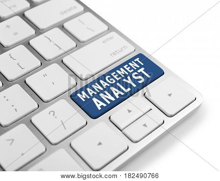 MANAGEMENT ANALYST button on keyboard, closeup