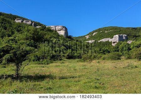 Temple of Donators at Cave City in the Cherkez-Kermen Valley, Crimea