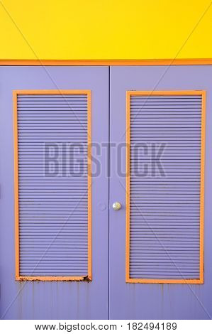 Colorful doors to a business on the caribbean island.