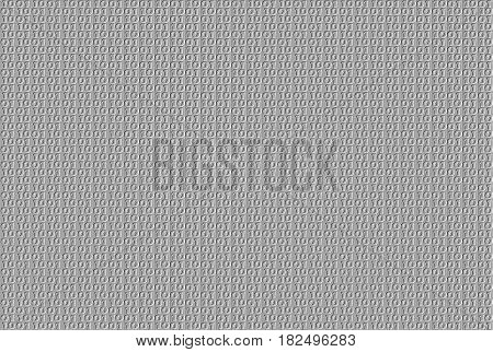 Embossed binary pattern on grey color background
