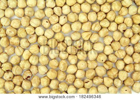 Turkish hazelnuts , close up image .