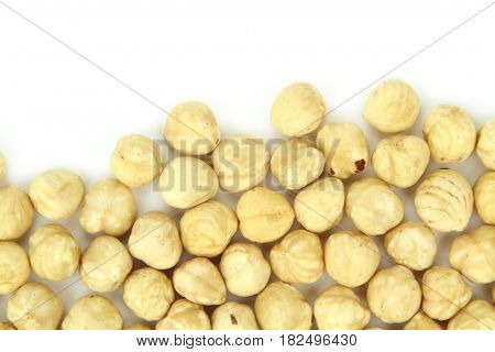 Yummy and delicious hazelnuts,close up image .