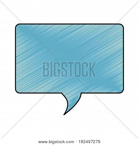 Bubble chat speakbox scribble icon vector illustration
