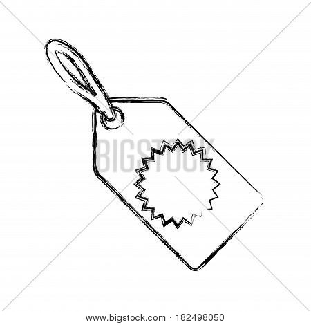 Shopping tag label draw icon vector illustration