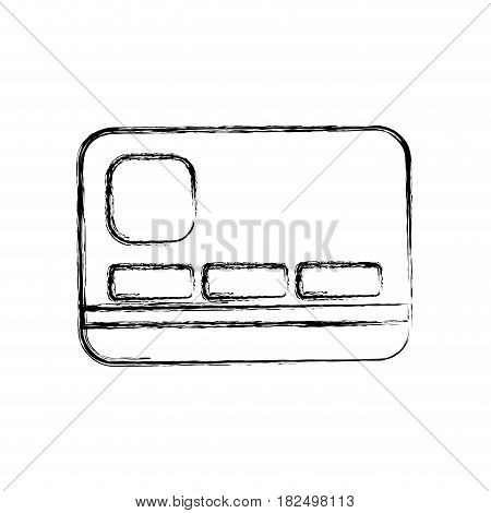 Bank credit card draw icon vector illustration