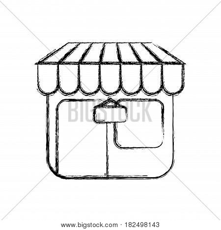 Shop store symbol draw icon vector illustration