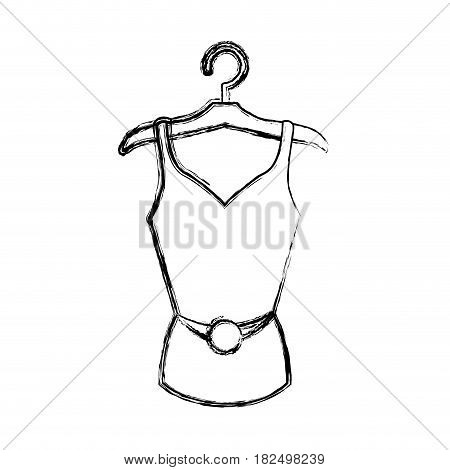 Women fashion accesory draw icon vector illustration