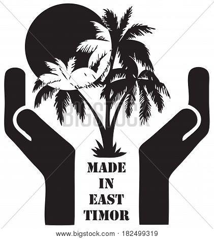 Symbol Made in East Timor - Tourist business. Vector illustration