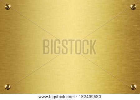 Brass plaque 3d illustration