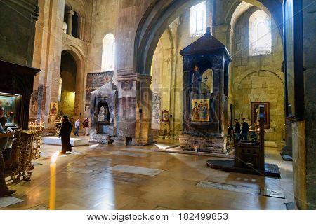 Inside Of Svetitskhoveli Cathedral In Mtskheta, Georgia