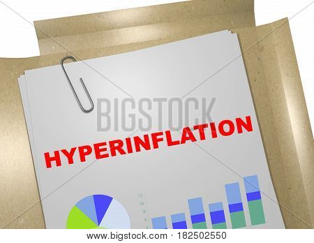 Hyperinflation - Financial Concept