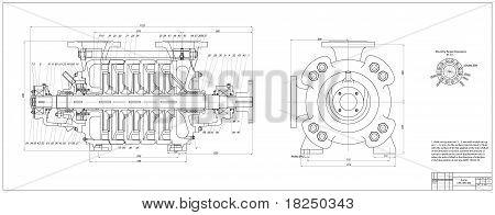 Pump. Vector illustration