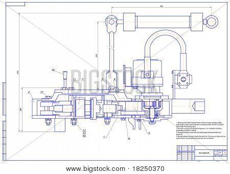 Key hydraulic. Vector illustration