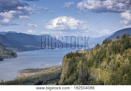 Crown point and the Columbia River Gorge Oregon state.